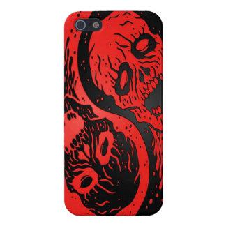 Zombis rojos y negros de Yin Yang iPhone 5 Funda