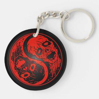 Zombis rojos y negros de Yin Yang Llaveros