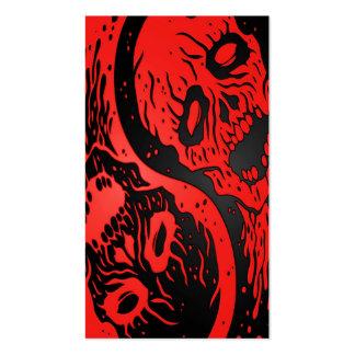 Zombis rojos y negros de Yin Yang Tarjetas De Negocios