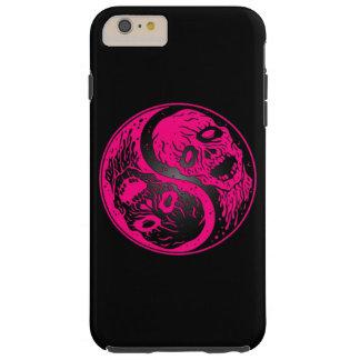 Zombis rosados y negros de Yin Yang Funda De iPhone 6 Plus Tough