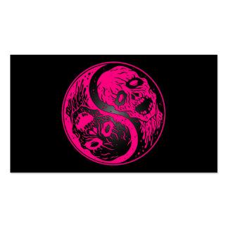 Zombis rosados y negros de Yin Yang Tarjeta Personal