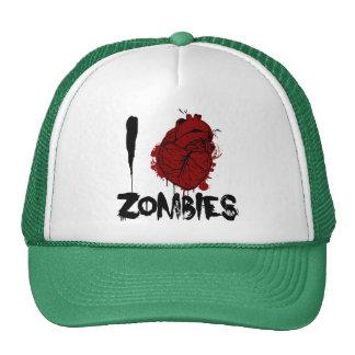 zombis sangrientos del corazón i gorros bordados