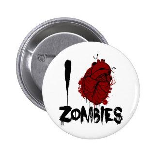 zombis sangrientos del corazón i pin redondo 5 cm