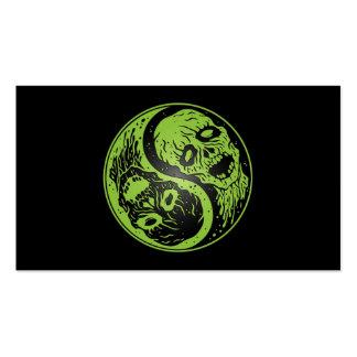 Zombis verde y negro de Yin Yang Tarjeta De Visita