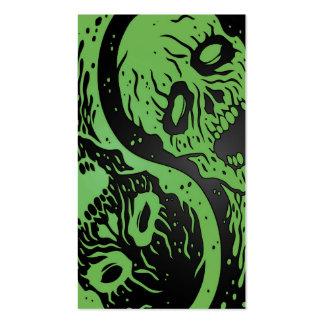 Zombis verdes y negros de Yin Yang Tarjetas De Visita