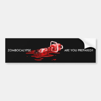 ZOMBOCALYPSE, ARE YOU PREPARED? bumpersticker Bumper Sticker