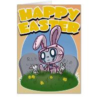 Zombunnie Easter Card