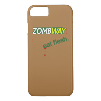Zombway Eat Flesh Zombie Parody iPhone 7 Case