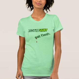 Zombway Eat Flesh Zombie Parody Shirt