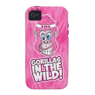 ZOMG, gorilas en el salvaje Carcasa Case-Mate Para iPhone 4