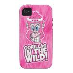 ZOMG, gorilas en el salvaje iPhone 4 Carcasas