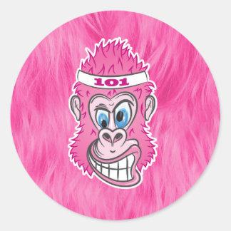 ZOMG, gorilas en el salvaje Etiquetas Redondas