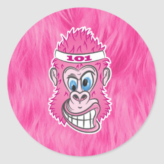 ZOMG, gorilas en el salvaje Pegatina Redonda