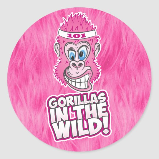 ZOMG, Gorillas in the Wild Classic Round Sticker