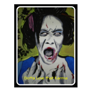 ZomGeisha Karma Postcard
