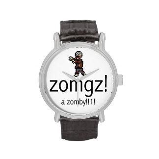 zomgz! a zomby!!1! Black Wrist Watch