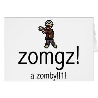 zomgz! a zomby!!1! greeting card