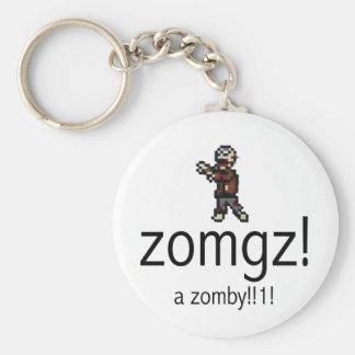 zomgz! a zomby!!1! keychain