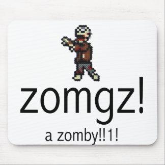 zomgz! a zomby!!1! mouse pad