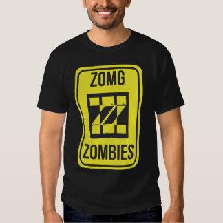 ZomgZombies Logo Warning Sign T-shirt