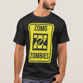 ZomgZombies Logo Warning Sign T-Shirt