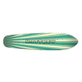 Zomp Color Stripe Funky Pattern Skateboard