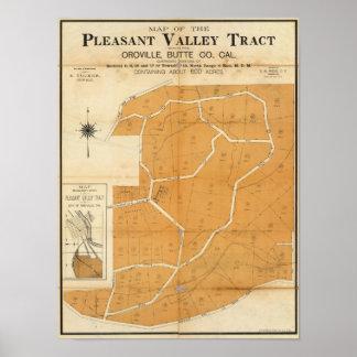 Zona agradable del valle, Oroville, California Posters