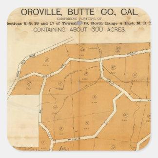 Zona agradable del valle, Oroville, California Pegatina Cuadrada