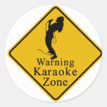 Zona amonestadora del Karaoke Pegatinas
