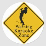 Zona amonestadora del Karaoke Pegatinas Redondas