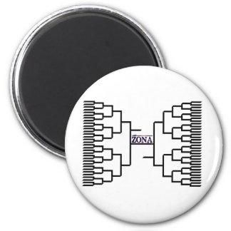 Zona Bracketology 2 Inch Round Magnet
