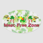 Zona Carne-Libre Colcomanias Oval Personalizadas