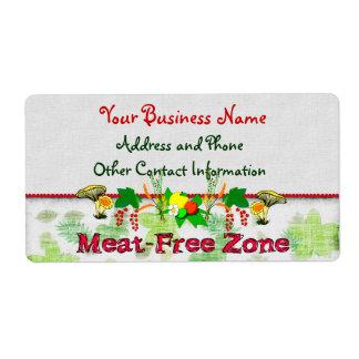 Zona Carne-Libre Etiqueta De Envío