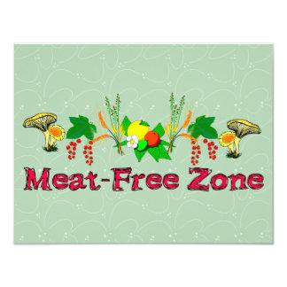 Zona Carne-Libre Invitación 10,8 X 13,9 Cm
