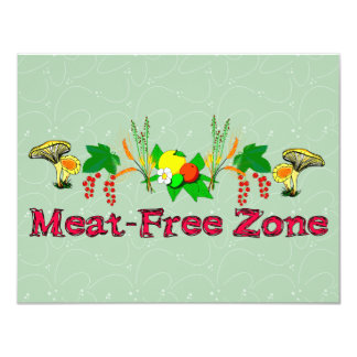 "Zona Carne-Libre Invitación 4.25"" X 5.5"""