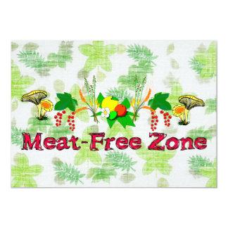 "Zona Carne-Libre Invitación 5"" X 7"""