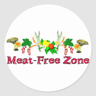 Zona Carne-Libre Etiqueta Redonda
