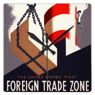 Zona comercial de Harry Herzog First_Foreign Reloj Cuadrado