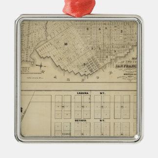 Zona de Beideman, San Francisco Adorno Cuadrado Plateado