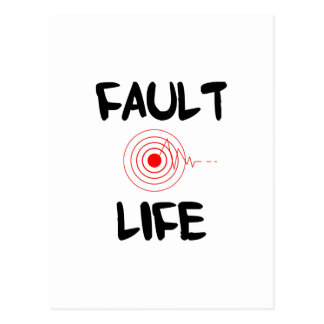 Zona de falta del terremoto de la vida de la falta tarjetas postales