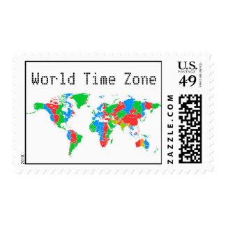 Zona de hora mundial sello