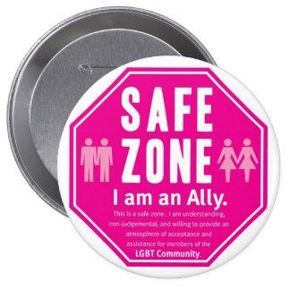 Zona de la caja fuerte de LGBT Pin Redondo 10 Cm