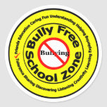 Zona de la escuela libre del matón pegatina redonda