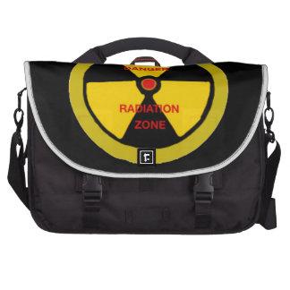 Zona de la radiación bolsas para portatil