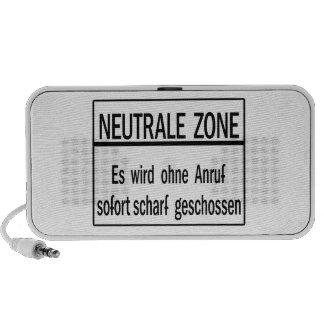 Zona de Neutrale, muro de Berlín, muestra de Alema iPhone Altavoces