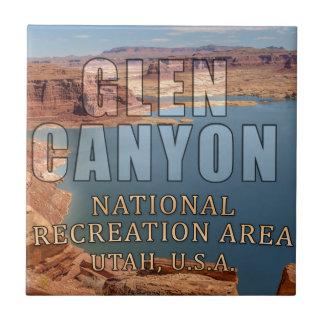 Zona de recreo del nacional de Glen Canyon Azulejo Cuadrado Pequeño