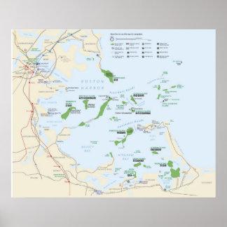 Zona de recreo del nacional de las islas del puert póster