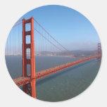 Zona de recreo del nacional del Golden Gate Pegatinas Redondas