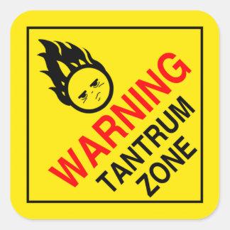 Zona de Tanrum Calcomanías Cuadradas Personalizadas