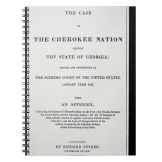 zona del Anti-retiro por la nación cherokee en r Cuaderno
